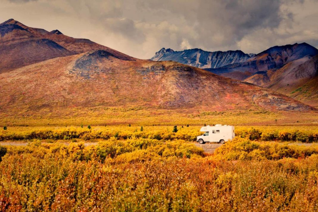 Autumn motorhome